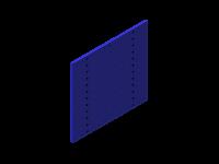 Perforált szerszámtartó fal